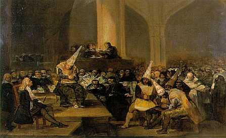 Inquisition Scene, par Francisco GOYA 1816 (Royal Academy of San Fernando, Madrid)